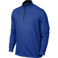 Nike Dri Fit Half Zip LS Top Royal Blue