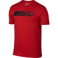 Nike Golf Graphic Tee University Red Reflective Black Medium