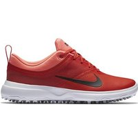 Nike Akami Ladies Golf Shoes Orange Black Lava Standard UK 4