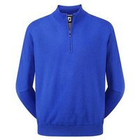 FootJoy Mens Lambswool 1/2 Zip Pullover - Nautical Blue Small