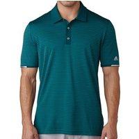 Climachill Tonal Stripe Golf Polo Shirt Rich Green Mens Small Rich Green
