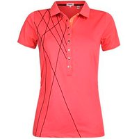 Calvin Klein Ladies Cross Polo Shirt PinkCode Size X Small D14