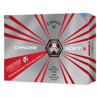 Chrome Soft X Truvis Golf Balls 1 Dozen WhiteRed
