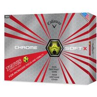Chrome Soft X Truvis Golf Balls 1 Dozen YellowBlack