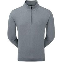 FootJoy Mens Lambswool Lined 1/2 Zip Pullover - Steel Grey Large