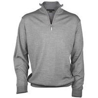 Greg Norman Unlined Zip Neck Merino Grey Medium