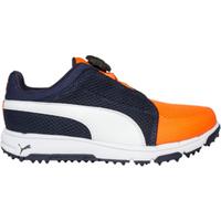 Puma Grip Sport DISC Junior Golf Shoes Peacoat Orange UK 1
