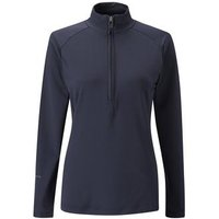 Carmel Half Zip Top Ladies 10 Navy