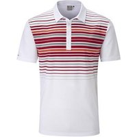 Cortes Polo Shirt Mens Medium WhiteRed