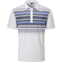 Cortes Polo Shirt Mens Small White/Blue