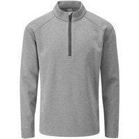 Kelvin 12 Zip Golf Sweater Mens Small Ash Marl