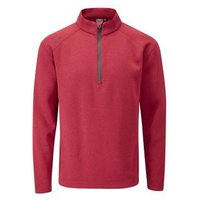 Kelvin 12 Zip Golf Sweater Mens Medium Red
