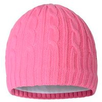Green Lamb Bella Cable Beanie Hat Pink A11
