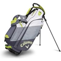 Callaway Chev Stand Bag Titanium White Neon Green