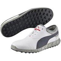 Puma Ignite Mens Golf Shoes White Turbulance High Risk Red
