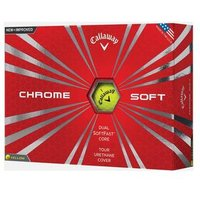 Callaway Chrome Soft Yellow Golf Balls 1 Dozen