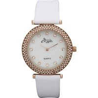 Annie Apple Ladies Watch with Mother of Pearl Dial and Swarovski Elements Stone Set Dial 364432