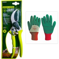 Spear and Jackson Kew Bypass Secateurs with Pruning Gloves 365238