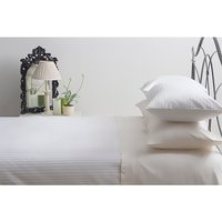 Belledorm Hotel Suite Double T540 Cotton Satin Stripe Fitted Sheet 366754