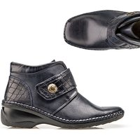 Cushion Walk Mock Croc Touch And Close Ankle Boot 369184