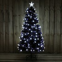 5FT Black Tree with Bright White LED Stars Indoor Use 370953