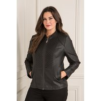 Stolen Heart Faux Leather Zip Through Jacket 377591