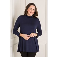 Nicole Jersey Turtle Neck Swing Top 389802