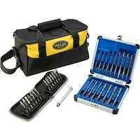 Drill All Drill Bits with Diamond Tipped Screwdriver Bits, Screw Tube and Tool Bag 390646