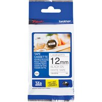 Brother 12mm Laminated Adhesive Tape 4m Black on White for Brother PT-Cube 399670