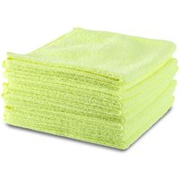 10 x Premium Microfibre Cloths choose from Yellow or Grey 402534