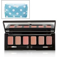 Skinn Hollywood Lip Palette with Free Blue Polka Dot Cosmetics Bag 402882