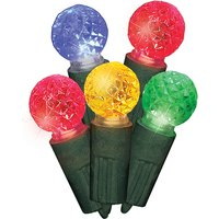 100 Multi Coloured Faceted Globe Lights 407838