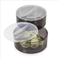 Tower Set Of 2 Spiralizer Bowls With - Grey 408438