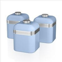 Swan Retro Set Of 3 Canisters Blue - Blue 408611