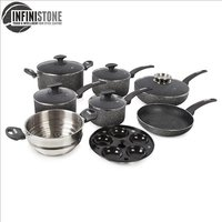 Tower 9Pce Stone Coated Cookware Set - Graphite 408691