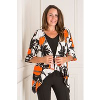 Reflections Printed Frill Sleeve Jacket 409925