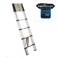Spear and Jackson 3.8m Telescopic Ladder MKII with Silverline Tool Belt 427274