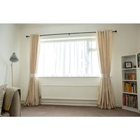 Faux Silk (46 inches x) Lined Ring Top Curtains 427935
