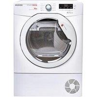 Hoover DMCD1013B 10kg Condenser Tumble Dryer in White Sensor Dry B Rat