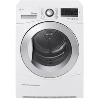 LG RC9055AP2F 9kg ECO Hybrid Heat Pump Tumble Dryer in White A