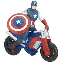 Marvel Avengers 15cm Deluxe Figure - Captain America with Motorcycle
