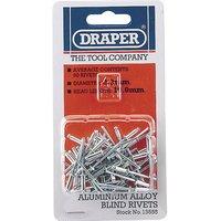 Draper Aluminium Pop Rivets 3.2mm 10.8mm Pack of 50