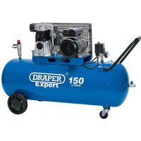 Draper DA150/365C Belt Driven Air Compressor 150 Litre 240v