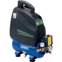 Draper DA6/169 Oil Free Air Compressor 6 Litre 240v