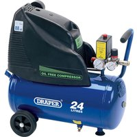 Draper DA25/169 Oil Free Air Compressor 24 Litre 240v