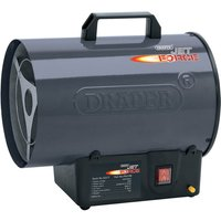 Draper PSH10B Stainless Steel Propane Gas Space Heater 240v