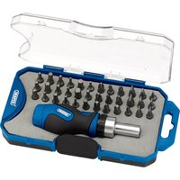 Draper 37 Piece Ratchet Screwdriver & Bit Set
