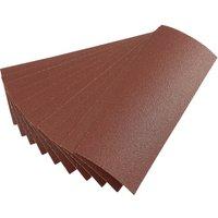 Draper 92mm X 232mm Aluminium Oxide Sanding Sheets 92mm x 232mm 80g Pack of 10