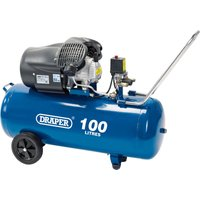 Draper DA100/412TV Air Compressor 100 Litre 240v