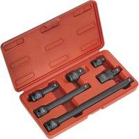 Sealey 6 Piece 1/2 Drive Impact Socket Adaptor & Extension Bar Set 1/2